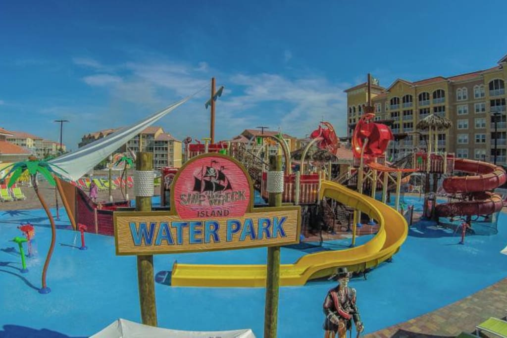 A child friendly water park.