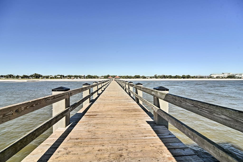 You'll be just steps from the beach for a relaxing day or some fishing from the pier.