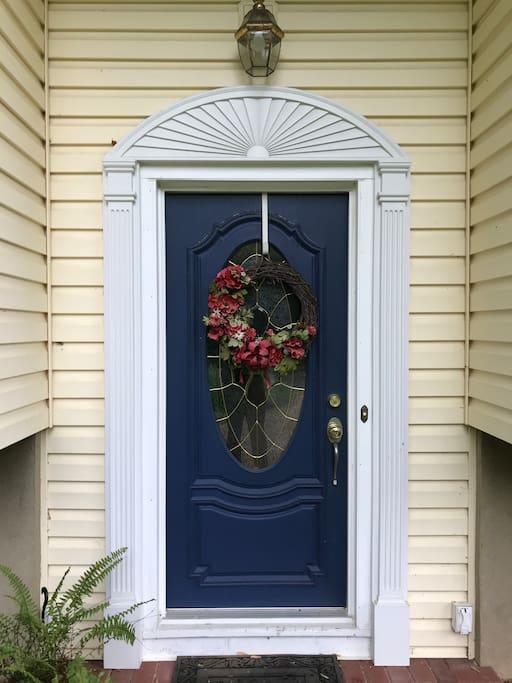 Front door, entrance to suite
