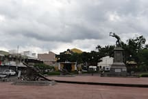 Parque Juan Santamaría at Alajuela down town
