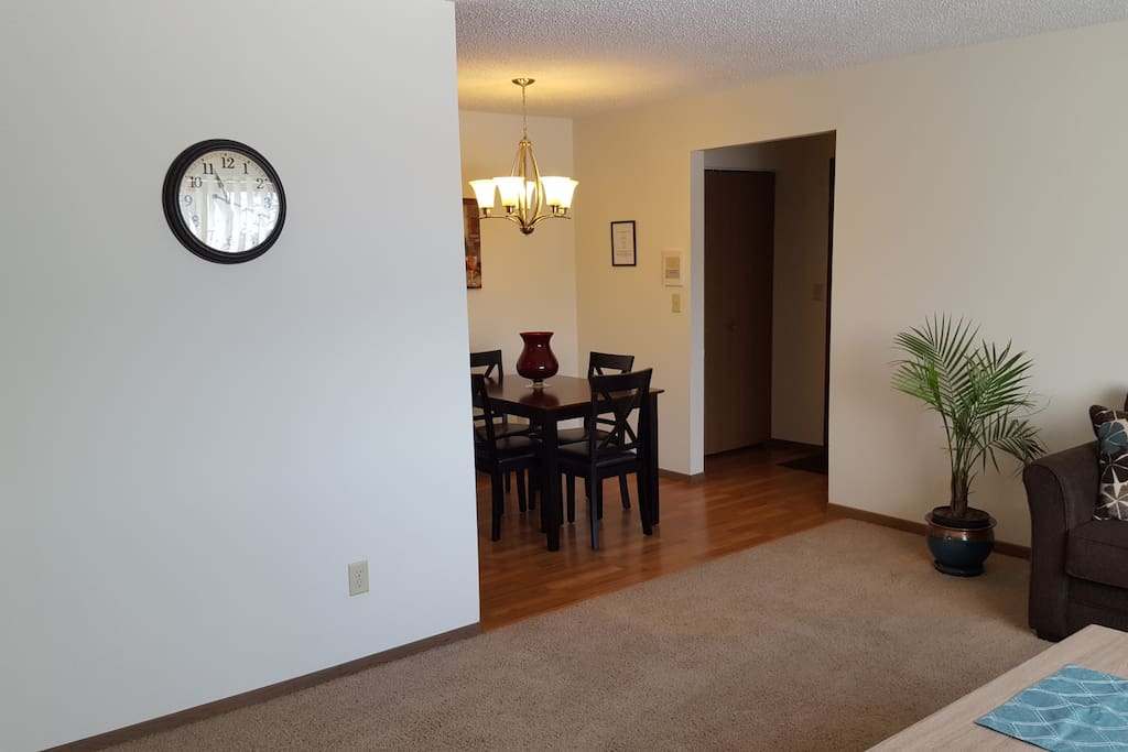 An open living/dining area makes it easy for families to be together.