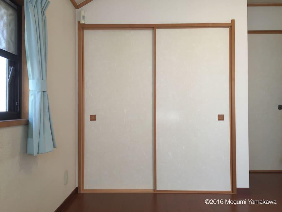 Japanese closet called Oshiire