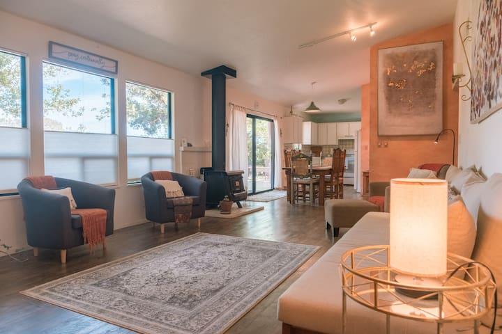 Sunshine Haven, stylish, spacious home with views.