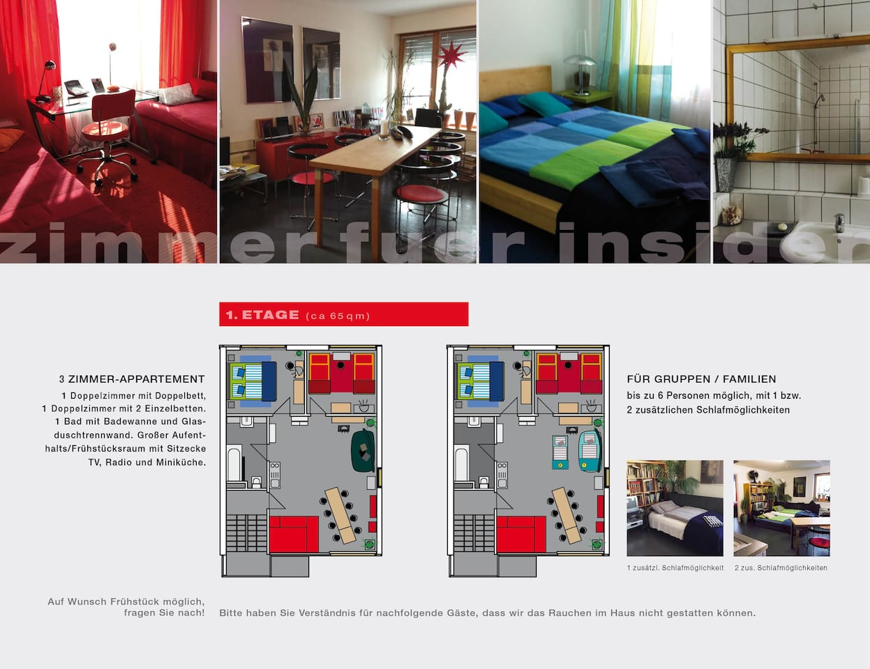 Zimmer für Insider - Bed and breakfasts for Rent in Bamberg, Bavaria ...