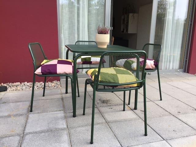 Terrasse mit outdoor Möbel