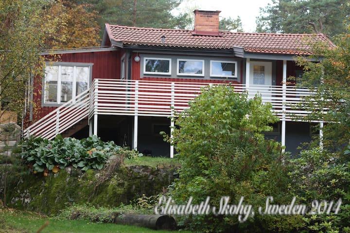 Rödstuga i Stockholmsskärgård. Swed - Nacka - Cabane