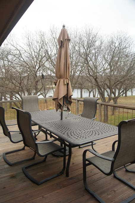 Expansive deck is the perfect spot for outdoor dining, grilling some steaks, visiting with friends and family, or just star gazing.