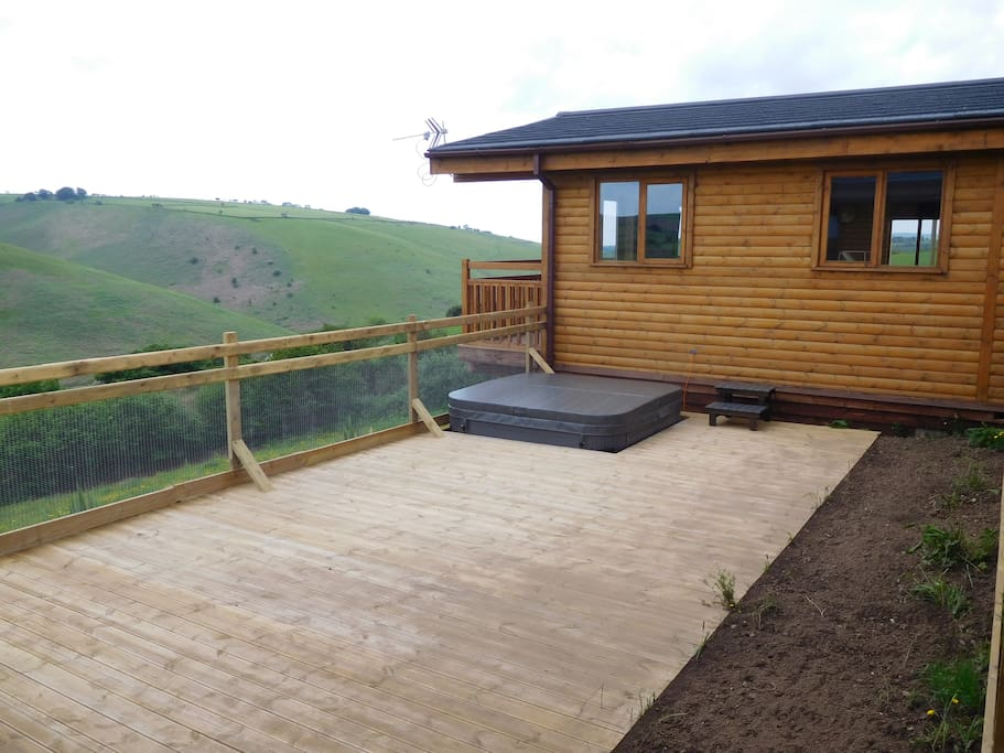 Decking BBQ area & Hot tub