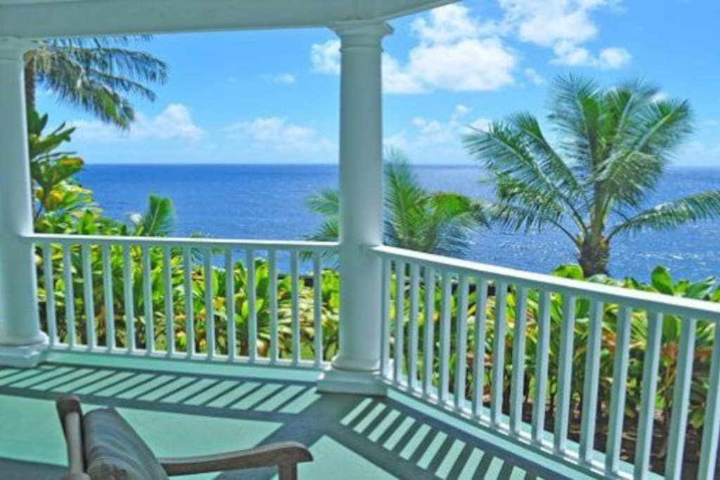 This is the view from you private lanai (porch).