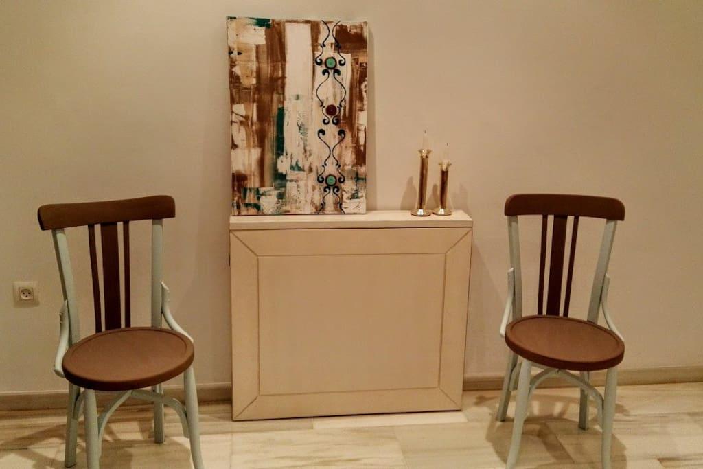 mesa plegada de salon