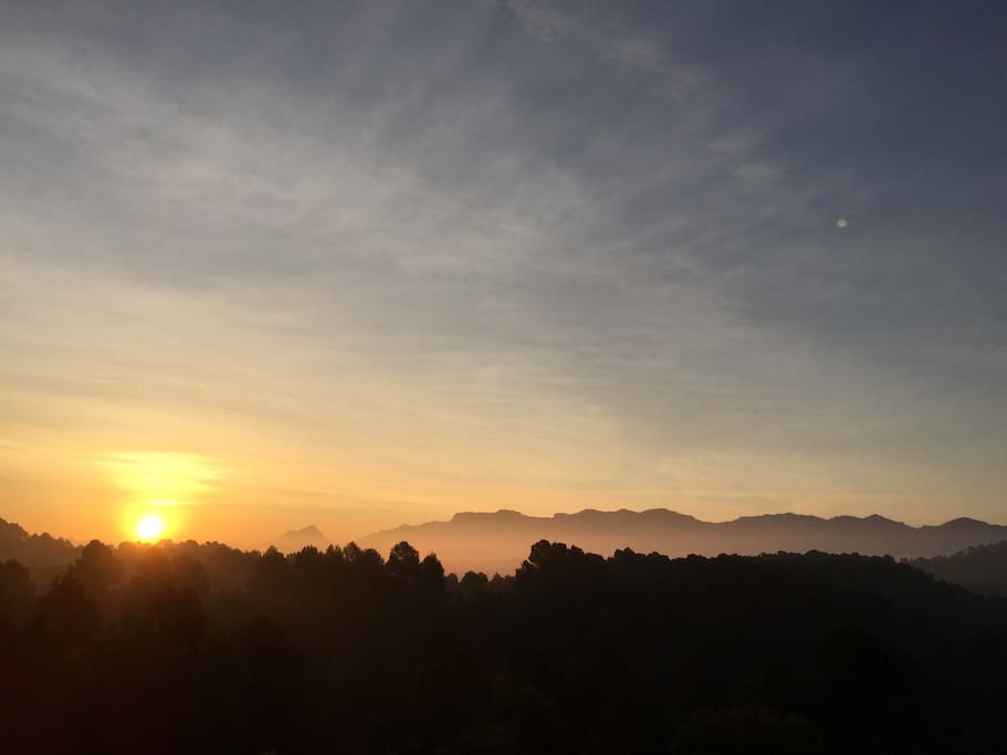 Sunrise / the view from the bedroom balcony
