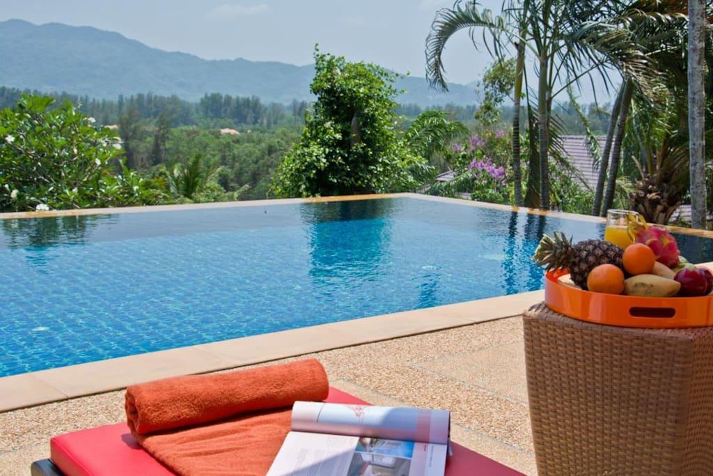 Phuket Luxury Villa Rental - Villa Oriole -Views over the laguna valley