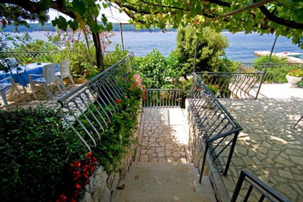 Stairs to the sandy beach