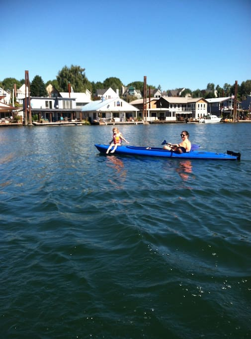 Kayak, boat, stand up paddle or swim out in the front of our moorage.
