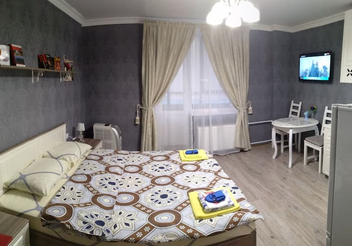 Studio apartment in Devyatkino
