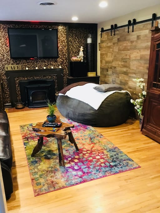 Your space with giant bean bag