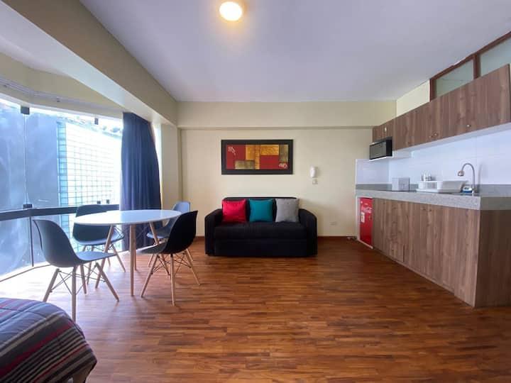 1001: Loft renovado, privado y limpio en Pardo