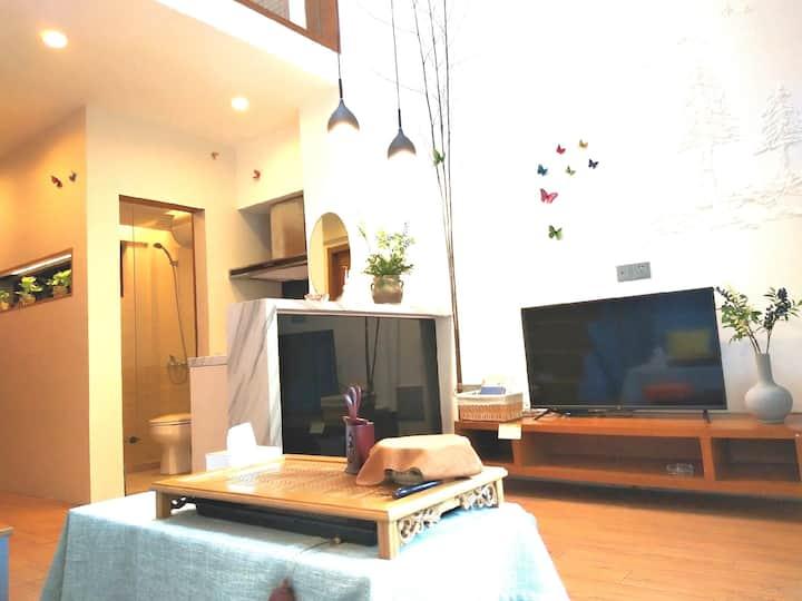 【柚子家】东关街,个园,东关古渡旁,瘦西湖复式LOFT精品景区房