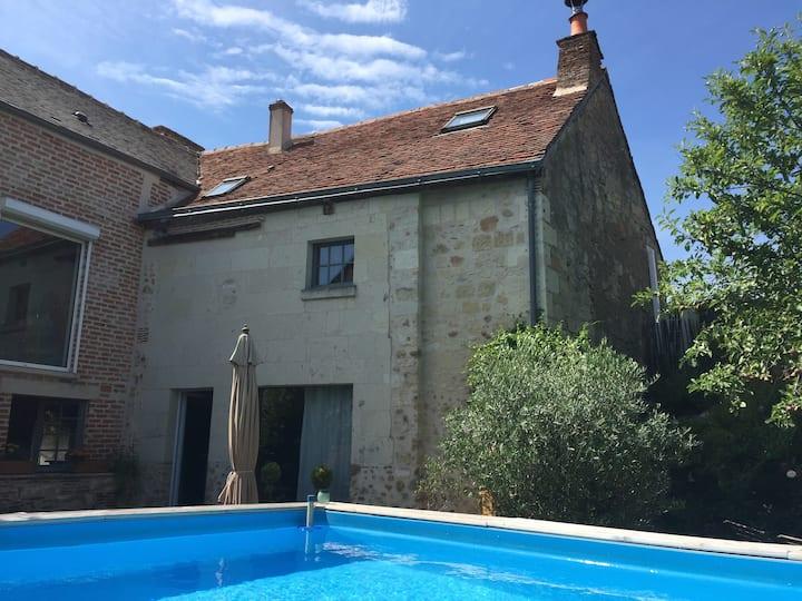 Maison de charme avec piscine privée Villandry