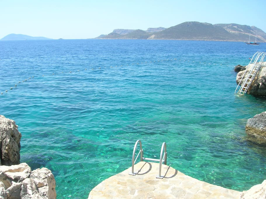 privater Meerzugang/ private beach