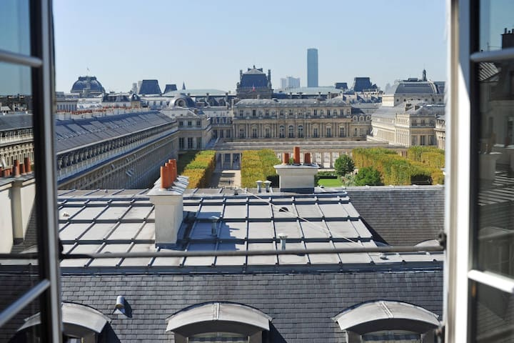 Beautiful view of Paris at the Palais Royal