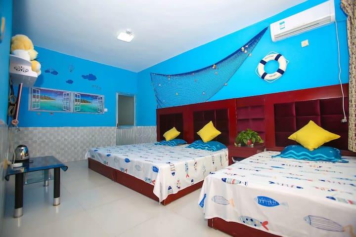 海洋主题家庭房2*2.4米  2*1.2米