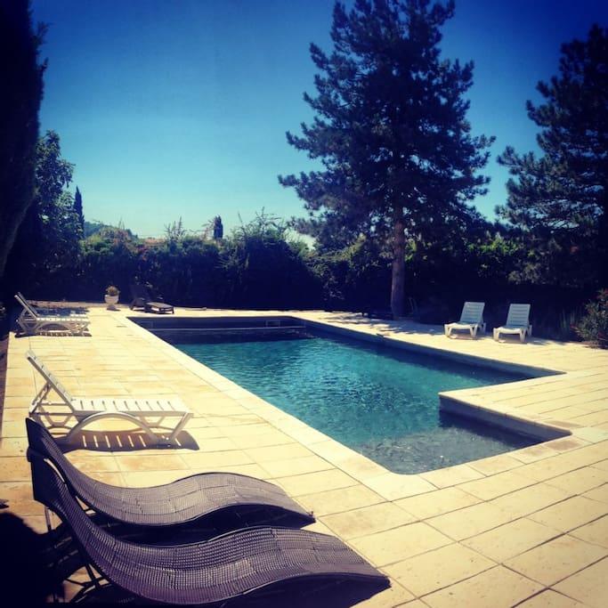 La piscine ensoleillée