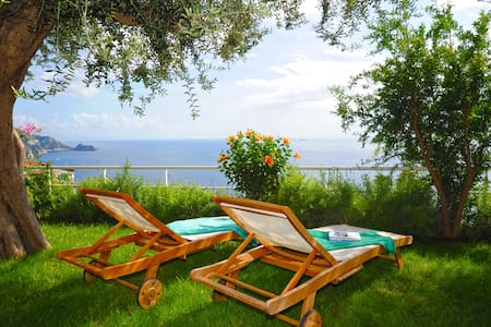 Villa with gardens and ocean view - Praiano