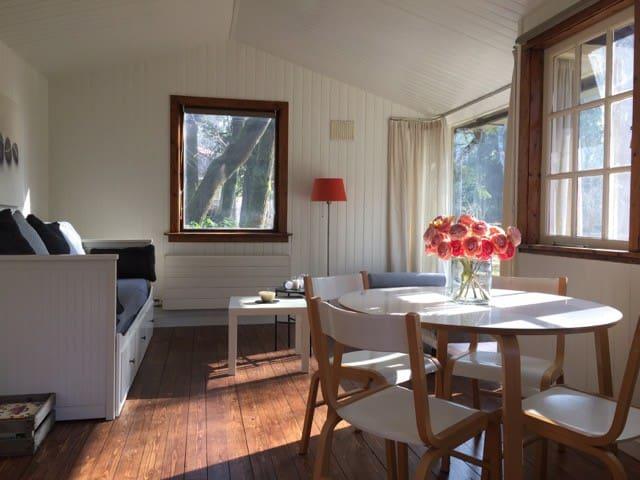 Comfi boshuis in natuur+ ontbijt, 30 min van A'dam