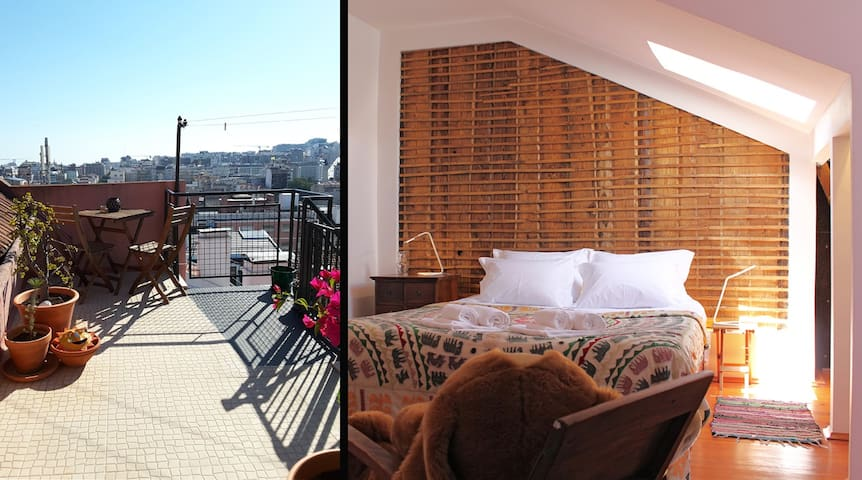 """Pergola"" - A terrace view over Marques de Pombal - Lizbona - Apartament"
