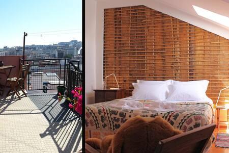 """Pergola"" - A terrace view over Marques de Pombal - Lisabon - Byt"