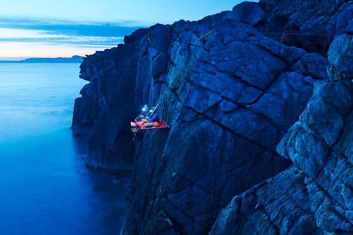 Night on the ledge
