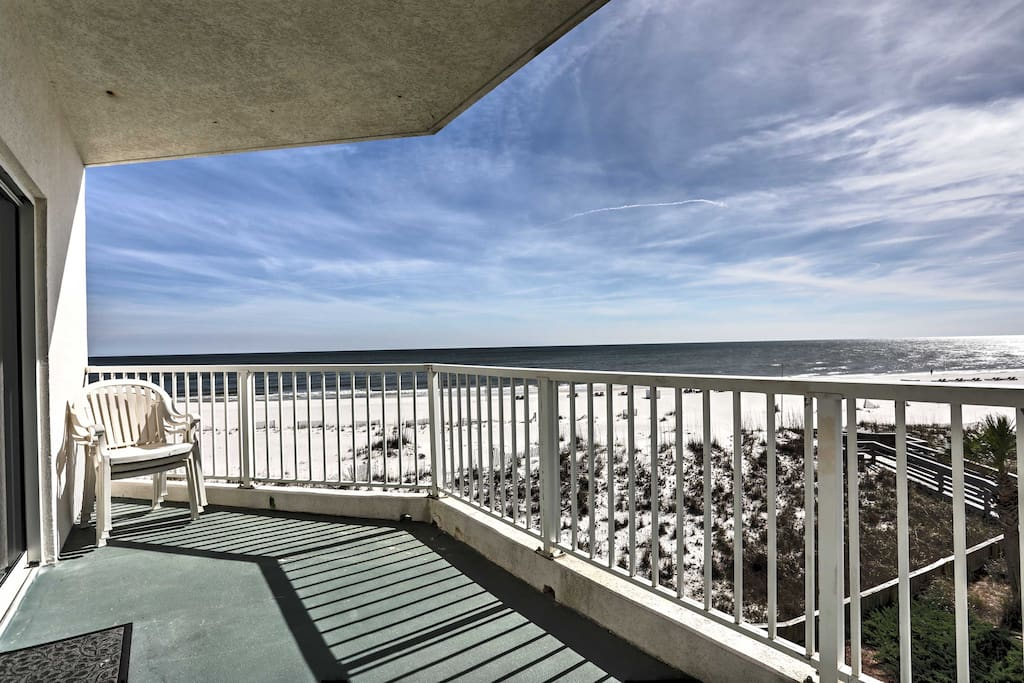 Enjoy incredible ocean views from the private balcony.