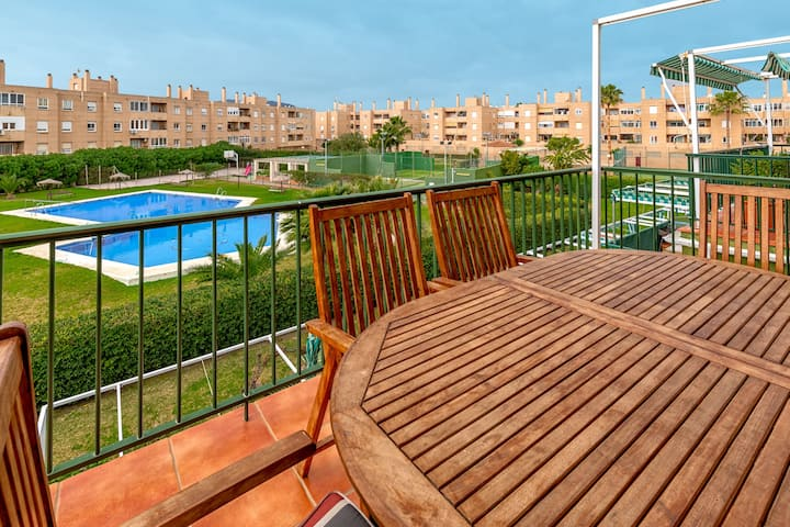 iloftmalaga Duplex Guadalmar with terrace in front of the beach