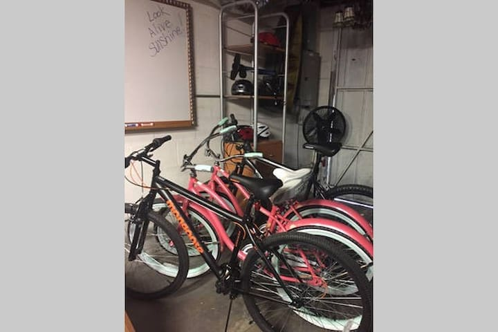 4 bikes available for guests