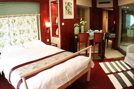 【无敌浴缸房】超级温馨 豪华五星喜来登 波特曼中心酒店公寓 - Ningbo - Appartement