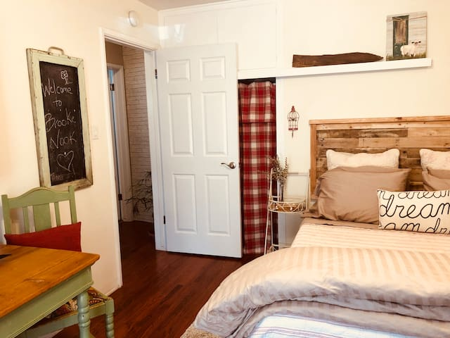 Private hall leading to private bathroom and private living room/ 2nd bedroom.