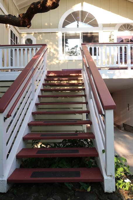 Stairs to entry of unit