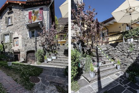 Charming Cottage near Locarno/ Lake - Gordola - Huis