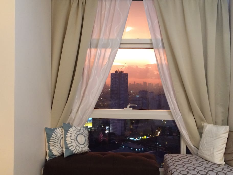 View with sofa