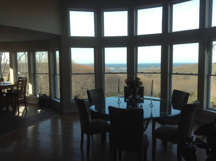 Port Jefferson Hilltop home with view of the water