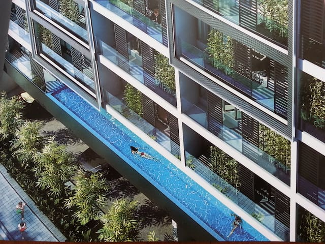 1BR+terrace luxury condo beside MRT - Singapur - Daire