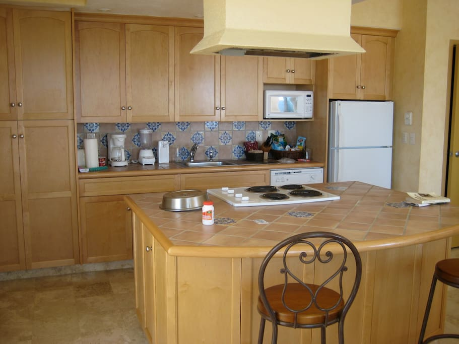 Fully Equipped Kitchen, Including Large Gas Grill on the Veranda
