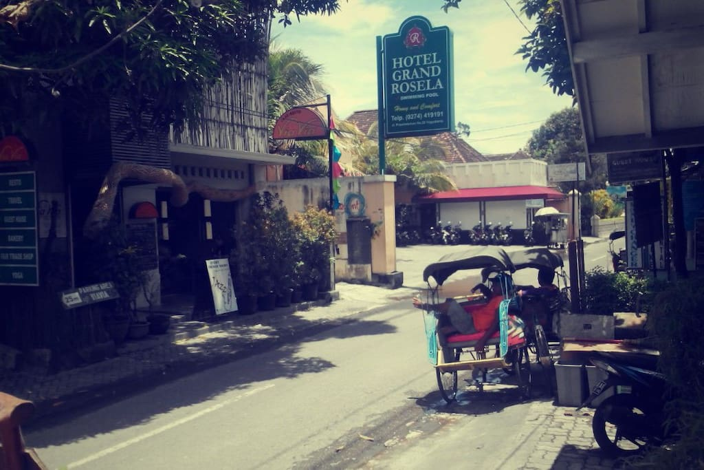 Jalan Prawirotaman. The best place for travellers in Jogja.