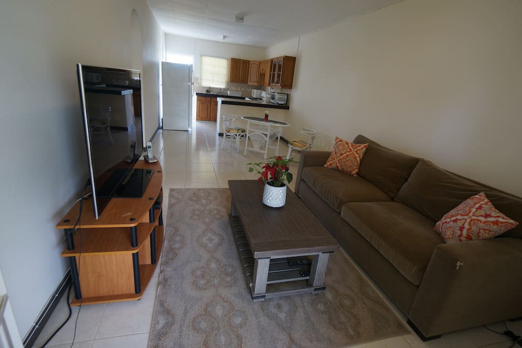 Open plan living/dining/kitchen area!