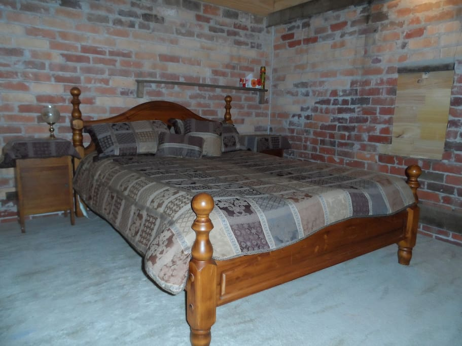 Comfy queen size bed upstairs