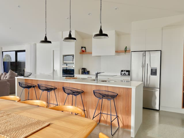 Spacious modern kitchen and breakfast