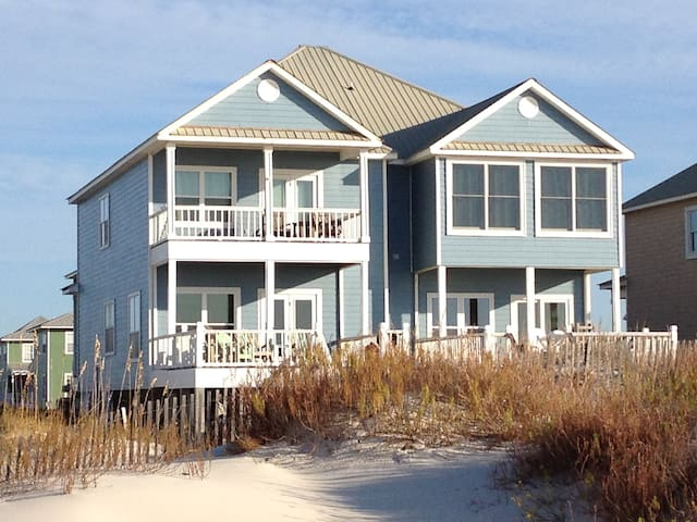 West side of the duplex.  Sand Crab West is an end unit of the 4 beachfront duplex homes