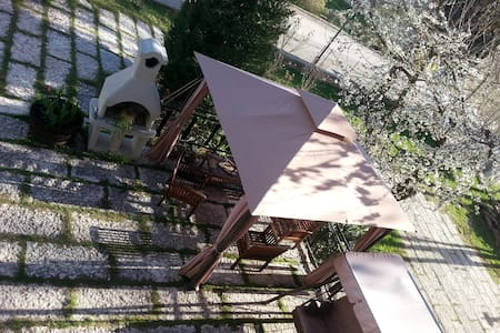 Trentino: giardino e Barbecue free - Tres