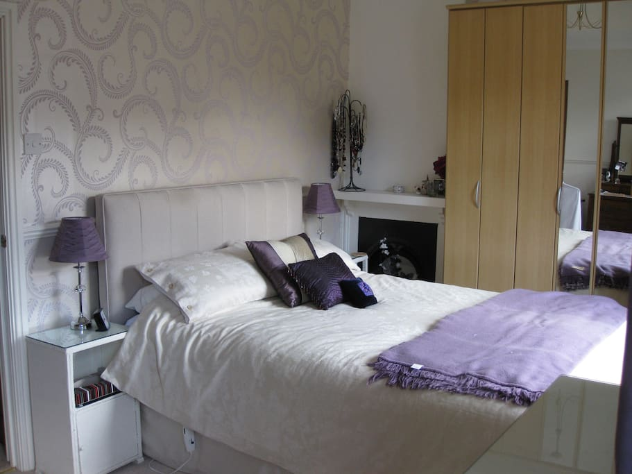 Lovely first floor bedroom with sunny, southerly aspect and king size bed